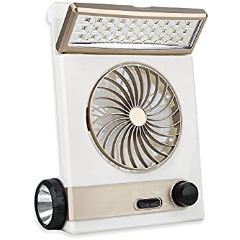 Amazon com: Ansee Solar Fan Camping Fan Cooling Table Fans 3
