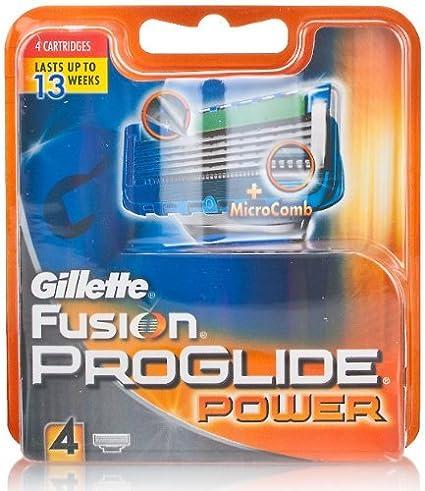 Gillette Fusion Proglide Power Cargador 4 Recambios Tratamiento ...