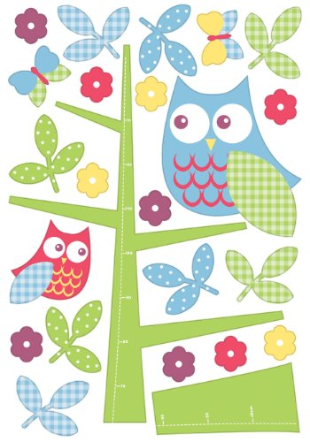 Owl In the Tree Height Chart 24 Maxi Wall Stickers Sticker (Owl In A Tree Costume)