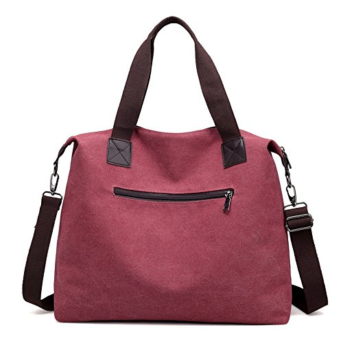 Capacity Use Casual Suitable For Canvas Bag Everyday Tote Vintage Candy Large Commuting Asdflina 5FxTO75