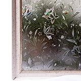 Window Film Privacy No-Glue 3D Static Decoration Heat Control Anti-uv Sun Blocking Glass Sticker,35.4x78.7 Inches Dark Smoke