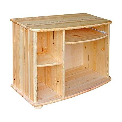 Mueble para televisor 528 sólido, madera de pino natural ...