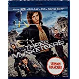 Les Trois Mousquetaires - The Three Musketeers (English/French) 2011 (Widescreen) Cover Bilingue [Blu-ray 3D + Blu-ray + DVD + Digital Copy] Régie au Québec