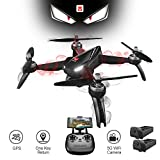 XFUNY MJX B5W Bugs 5W RC Quadcopter 1080P 5G WiFi Camera Live Video 2.4GHz Remote Control Aircraft 6-Axis Gyro FPV Drone with GPS Return Home, Altitude Hold, Follow Me, 2 Battery (B5W)