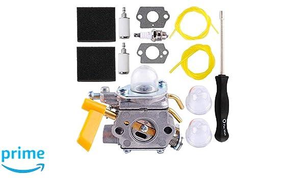 Poweka 308054003 Kit de carburador para Ryobi Homelite 25 cc ...