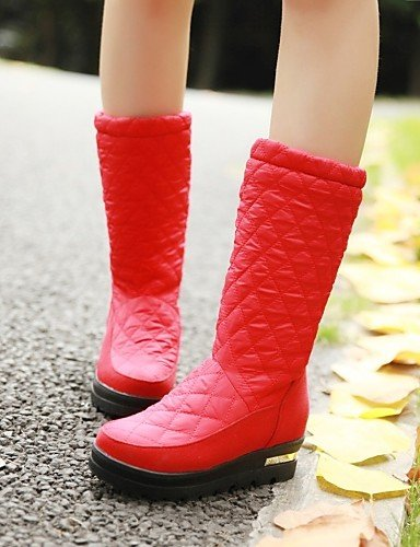 Red Negro Redonda us6 Xzz Plataforma Semicuero 5 Nieve Cn36 Red Eu36 Botas Zapatos Punta Vestido Cn35 De Mujer Rojo us5 Casual 5 Azul Uk3 Uk4 x00Bwnt1qP