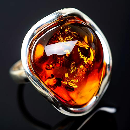 - Ana Silver Co Baltic Amber Ring Size 7 (925 Sterling Silver) - Handmade Jewelry, Bohemian, Vintage RING952389