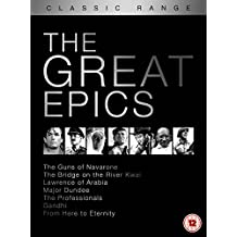 Classic Range - The Great Epics: The Guns of Navarone, The Bridge on The River Kwai, Lawrence of Arabia, Major...