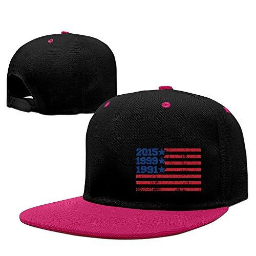 FIFA 2015 Women's World Cup Champions American Flag Snapback Hip Hop Flat Bill Hat Pink (Cup Cruz World Azul)
