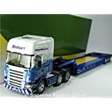 Oxford JV4102 Scania R560 Low Cab /& Low Loader Eddie Stobart Atlas 1:76 Scale
