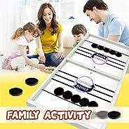 Ellymi Slingshot Hockey Party Game,Catapult Chess Bumper Chess Parent-Child Interactive Game Table Desktop Battles Game,Winn