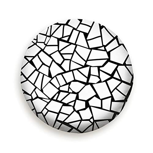Pillow Glass Mosaic - Cool pillow Tire Cover Stone Broken Glass Abstract Mosaic Polyester Universal Spare Wheel Tire Cover Wheel Covers Jeep Trailer Rv SUV Truck Camper Travel Trailer Accessories