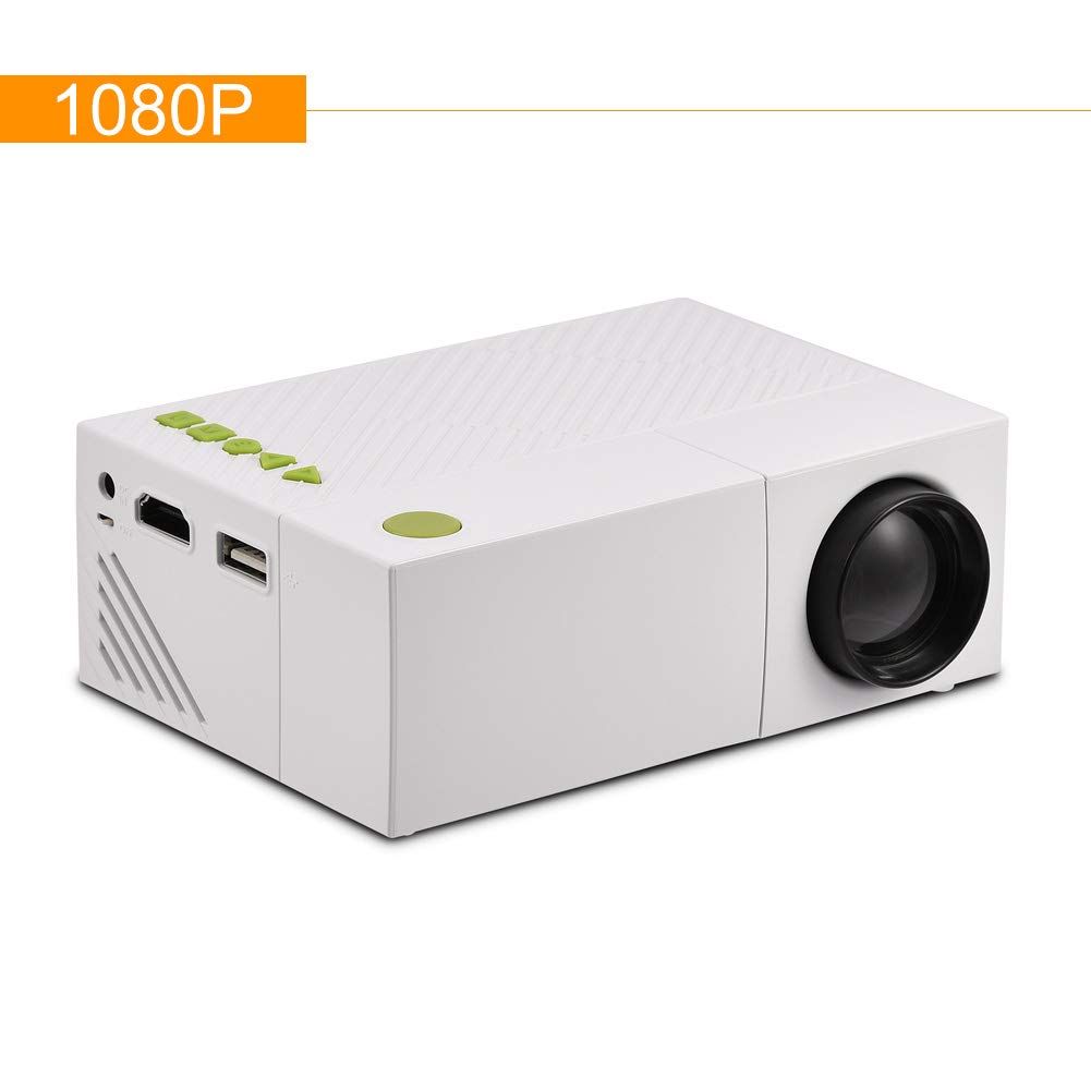 VBESTLIFE 1080P Portá til Multimedia Ví deo Proyector LED Mini Home Theater Video USB/TF / AV/HDMI de Entrada Resolució n Nativa 320 * 240 (Blanco)