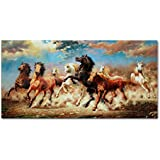IARTS Running Horse Modern Wall Art for Decor Home and Office 40x80cm (16x32inch) Ready to Hang