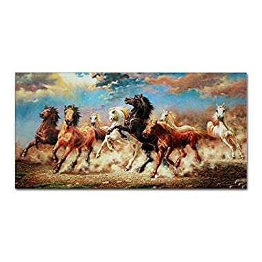 IARTS Modern Art Prints Animal 8 Running Horse Canvas Art for Wall Hanging(Unstretch ,No Frame)