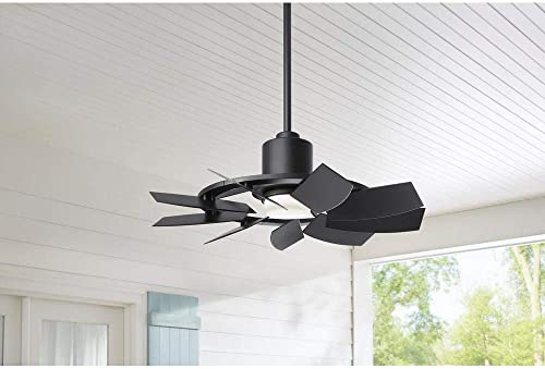 Stonemill 36 in. LED Outdoor Matte Black Ceiling Fan