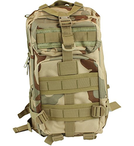 bogo Brands Military Style Tactical Army Backpack for Boys 3P 25 Liter Capacity (Desert Camo) by bogo Brands