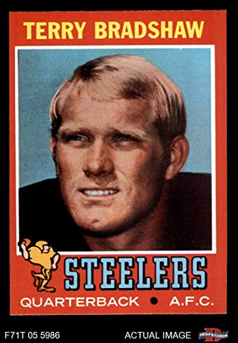 3434fa129 1971 Topps   156 Terry Bradshaw Pittsburgh Steelers (Football Card) Dean s  Cards 5 - EX Steelers