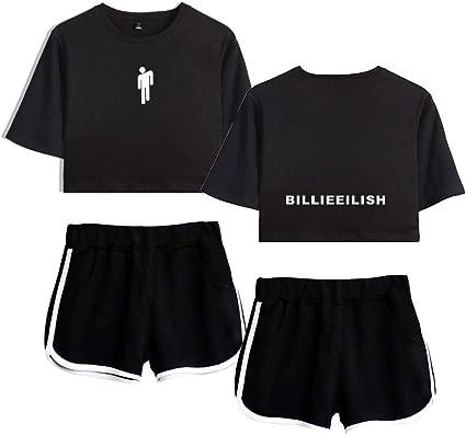 Carpdut Billie Eilish T Shirt Komplettset Damen Teenager Madchen Shirt Mode Sommer Amazon De Bekleidung