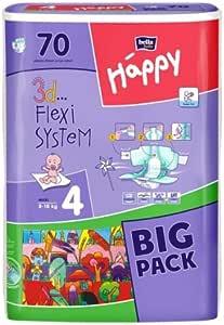 Bella Happy Baby Pañales Máxima de talla 4 (8 – 18 kg) Big Pack 70 unidades): Amazon.es: Salud y cuidado personal