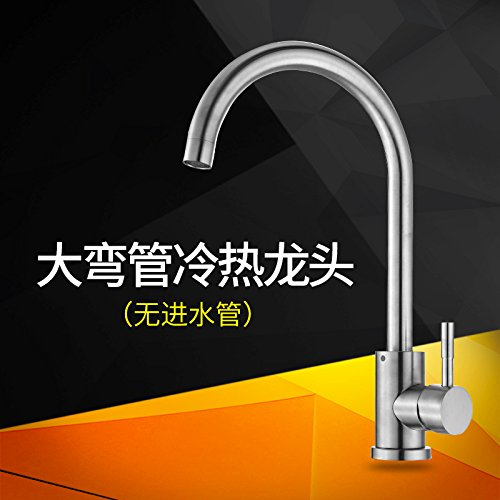304 Cold and Hot Bend Faucet Single JWLT Kitchen faucet single cold basin wash basin redating tank 304 stainless steel kitchen faucet hot and cold,304 cold and hot redating head faucet single