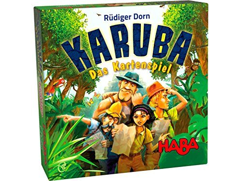 HABA Karuba the Card Game - An Exciting Adventure for 2-6 Treasure Hunters Ages 8+ (Made in Germany) (Game Card Exciting)