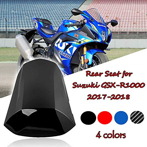(FATExpress Motorcycle Aftermarket Plastic Rear Passenger Pillion Solo Seat Cowl Hard ABS Motor Fairing Tail Cover for 2017-2018 Suzuki GSXR GSX-R 1000 GSXR1000 17-18 (Red))