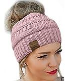 Best Beanie Hats - Messy Bun Hat Beanie CC Quality Knit Review