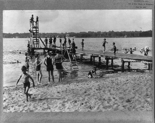 Photo: Bathing scene at Beachwood Club,Toms River,Ocean County,New - For County River Nj Toms