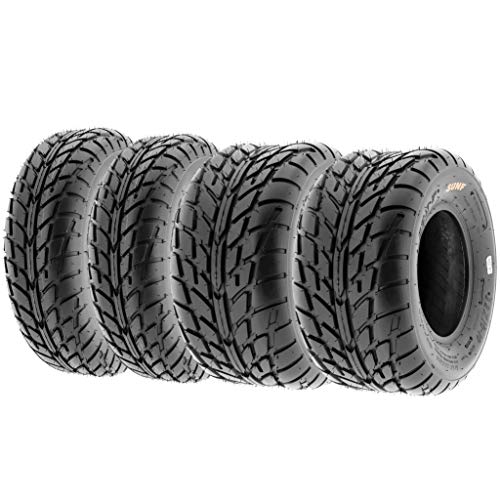 Set of 4 SunF A021 TT Sport ATV UTV Flat Track Tires 22x7-10 Front & 20x10-9 Rear, 6 PR, Tubeless