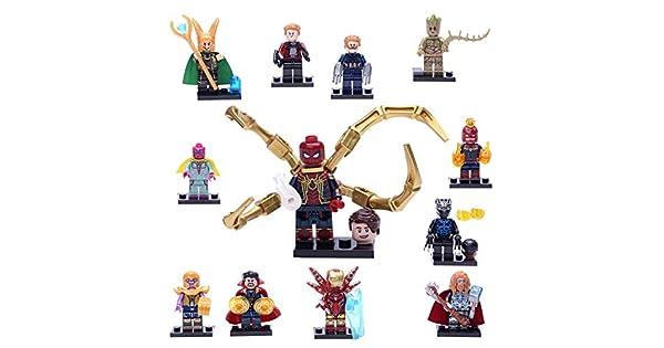 Amazon.com: Juego de 14 figuras de superhéroes para niños ...