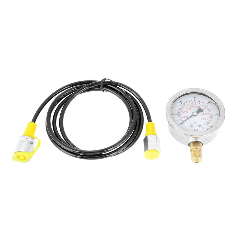 Hydraulic Hose Test Kit Hydraulic Hose+Gauge 0~600BAR / 0~8500PSI