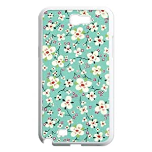 Retro Floral Series Classic Personalized Phone Case for Samsung Galaxy Note 2 N7100,custom cover case ygtg598221