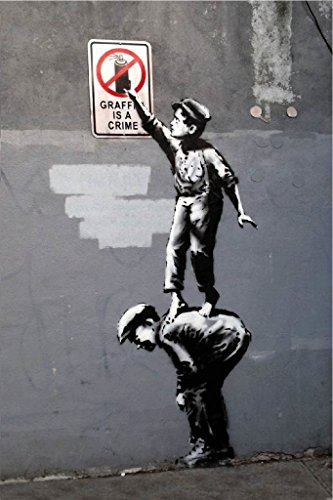Graffiti Banksy 12 Inches 18 Inches JSC103 product image