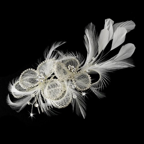 Vanna Vintage Flower with Clear Rhinestones Wedding Bridal Hair Comb (Fashions Vannas)