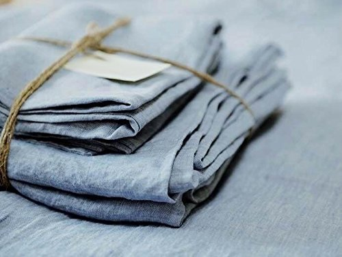 Merryfeel Luxurious 100% Pure French Linen Chambray Sheet Set - Twin by Merryfeel