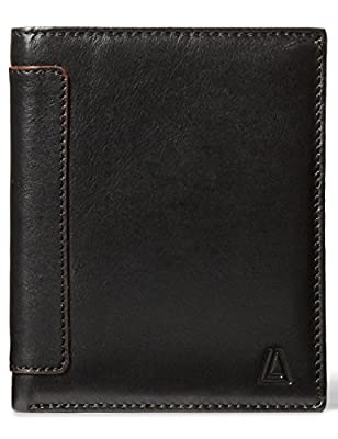 Leather Architect Men's 100% Leather RFID Blocking Classic Trifold Wallet With 18 Credit Card Slots