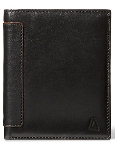 Classic Tri Fold Wallet (Leather Architect Men's 100% Leather RFID Blocking Classic Trifold Wallet With 18 Credit Card Slots Black)
