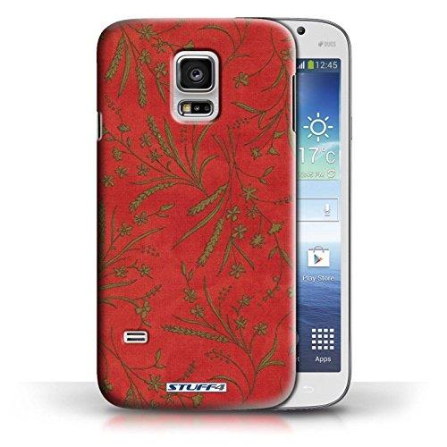 Etui pour Samsung Galaxy S5 Mini / Rouge/Vert conception / Collection de Motif floral blé