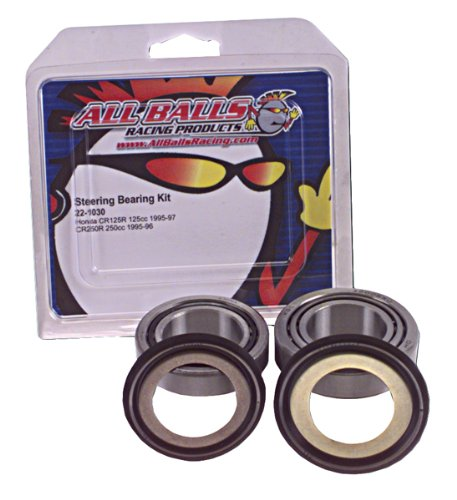 - All Balls - 22-1037 - Steering Stem Bearing Kit Replacement For Honda Silver/Gold Wing/RVT/VT