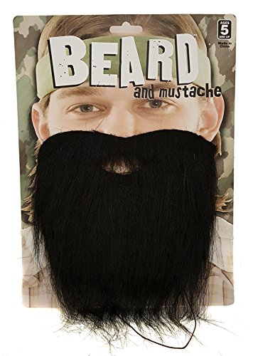 Beard and Mustache Costume Accessory 12 (Zoombie Costumes)