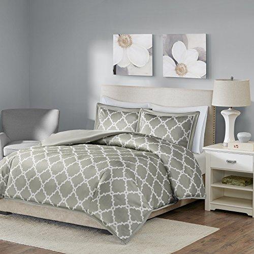 Comfort Spaces – Milton Mini Duvet Cover Set – 3 Piece – Grey – King Size, Inc ...