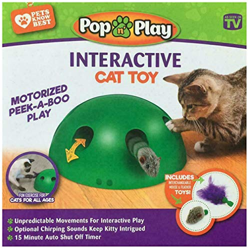 Zooyooart Automatic Play Interactive Motion Cat Toy Mouse Tease Electronic Pet Toys