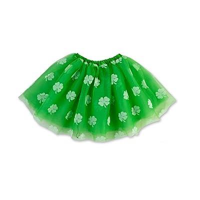 Rush Dance Ballerina St Patrick's Day Shamrock Clover Costume Tutu: Toys & Games
