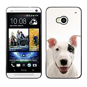 TopCaseStore / la caja del caucho duro de la cubierta de protección de la piel - American Pit Bull Terrier Dog Canine Pet - HTC One M7