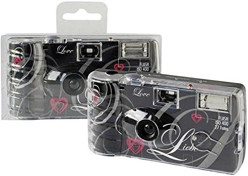 Topshot Love Schwarz Einwegkamera Hochzeitskamera Kamera