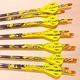 Gold Tip Pro Hunter 5575 Carbon Arrows w/Blazer Vanes Mossy Oak Wraps 1Dz.