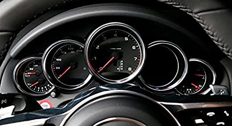 Red HIGH FLYING 5Dashboard Console Instrument Display Cover Ring ABS For Porsche Panamera 2011-2015