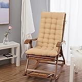 OR&DK Folding Rocking Chair Cushion, Lounge Chair Seat Cushion Leisure Chair Soft Backrest Non-slip Sofa Cushion-B 48x122cm(19x48inch)