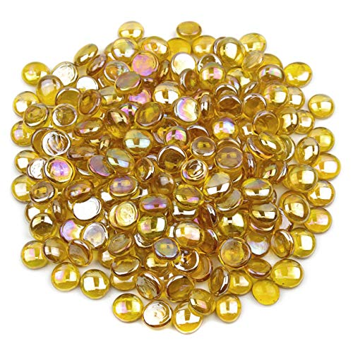 Gemnique Glass Gems - Yellow Luster (48 oz.) (Gold Vases Glass For Beads)